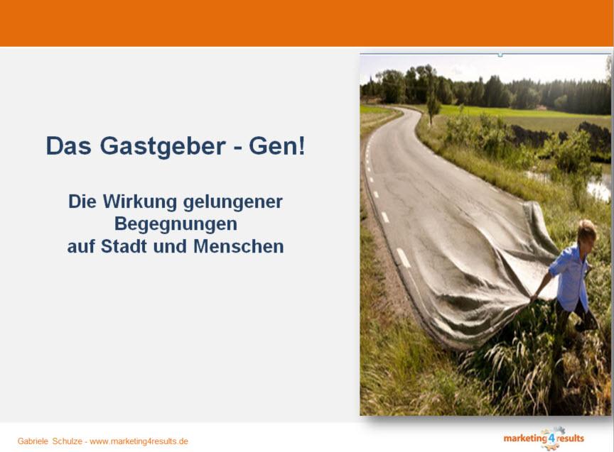 Keynote: Das Gastgeber-Gen. Die Wirkung gelungener Begegnungen