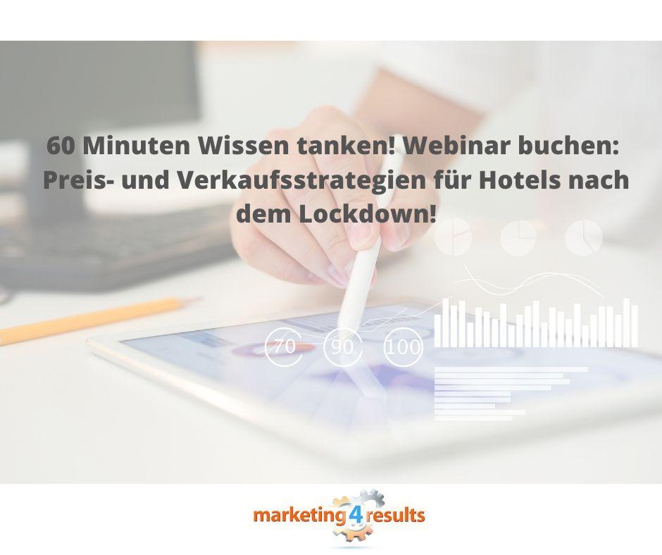 Webinar: Preis- und Verkaufsstrategien für Hotels nach dem Lockdown!