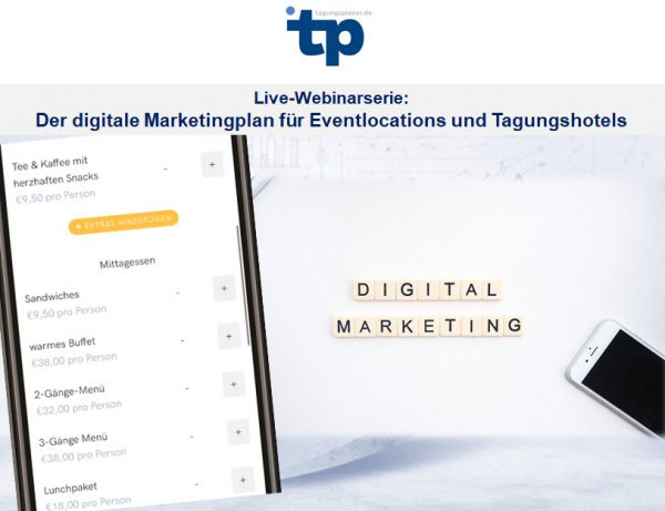 Live-Web-Seminare: Der digitale Marketingplan für Eventlocations und Tagungshotels